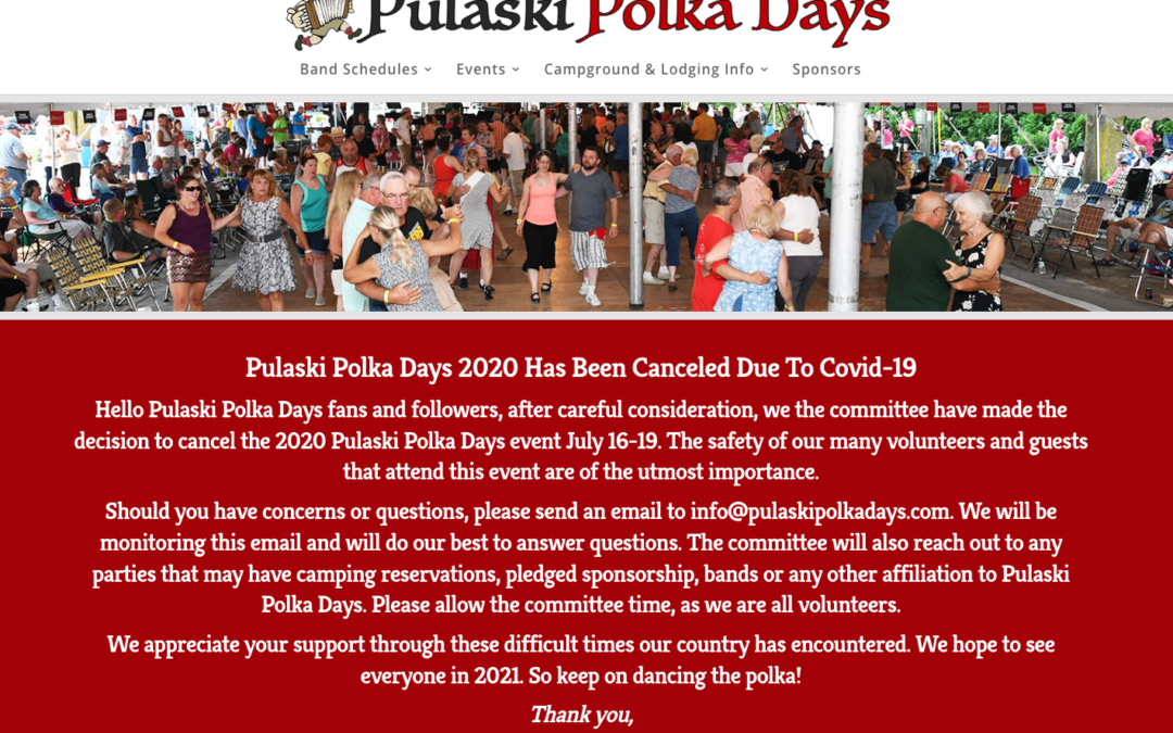 Pulaski Polka Days 2020 Has Been Canceled Due To Covid-19